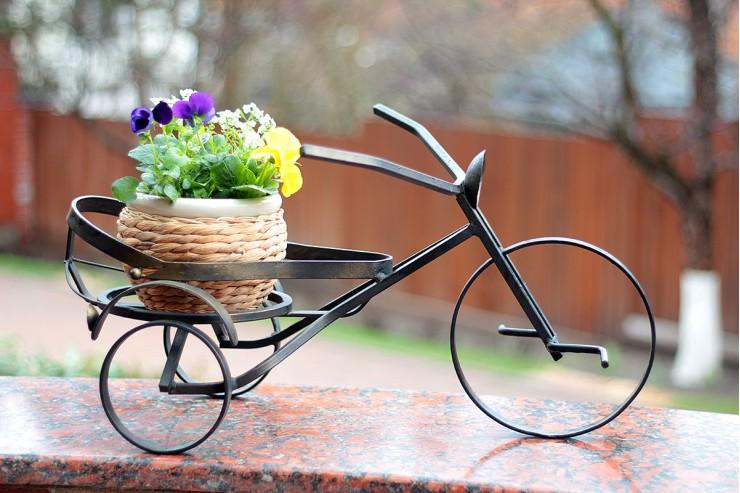 """Подставка для кашпо """"Велосипед"""" маленький."""